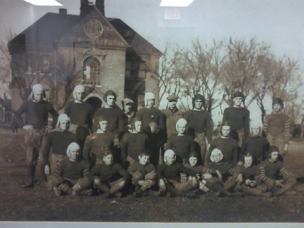 Old Football Team Photo (Year unknown)
